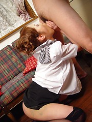 Japanese girl loves his cum