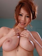 Yuki Aida in lingerie shows her big boobs