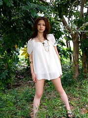 Yura Aikawa hot Asian teen model has a sexy tight body