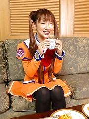 Asakura enjoys showing her sweet innocent look for her guys