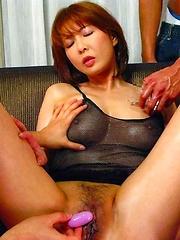 Sexy Ryo Hirase hardcore and facial