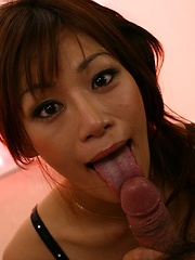 Hottie Mika Mizuno gives a nice blowjob and solo