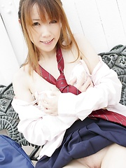 Shy teen girl from Tokyo
