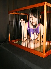 Japan spandex girl in the cage