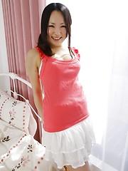 Young japanese slut Aiko Mizusoe bares her wet pussy