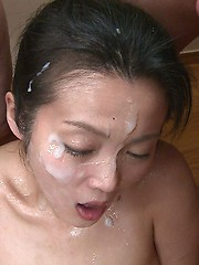 Asian cum covered face