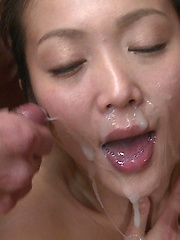 Young asian suck cocks for facial cumshot