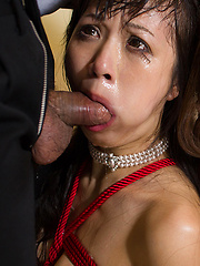 Two bondaged japanese girls face fuck