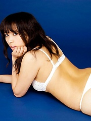 Another set of Kyoko Maki posing in white lingerie