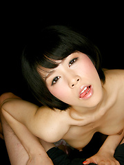 Sonoda Ruru strokes cock for cum swallow