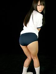 Nice japanese girl Mizushima Ai solo posing