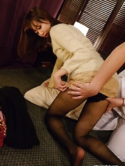Hairy pussy in massage session