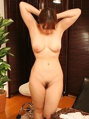 Asian girl getting naked