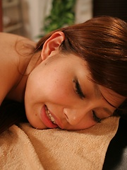 Massage for hairy japanese pussy