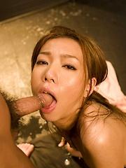 Japanese girl Kaoru Hayami likes to suck