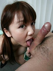 Pretty Meguru Kosaka gives head with deepthroat