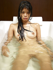 Naked adian model relaxing in the bath
