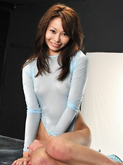 Japanese girl YuriAine gets oiled...