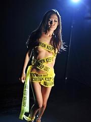 Japanese girl Yui Komine likes cellophane