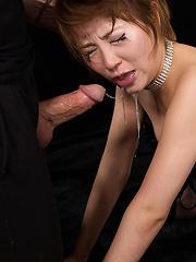 Short-haired japanese model Shiina Mizuho gets cock