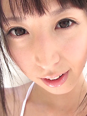 At CKE18, we love anything white that covers a Japanese girl's ass. White jeans, white booty shorts, thongs, cotton panties! You name it, we drool over it!