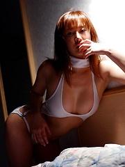 Azusa Kyouno at the beach posin big round tits