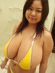 Busty Asian Fuko gigantic japanese breasts