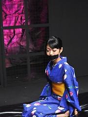 Cute japanese girl Yuu in kimono