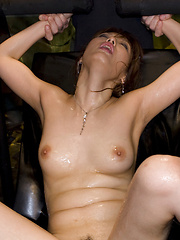 Lucky man plays with oiled Nanami