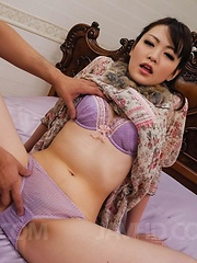 Tomoka Sakurai Asian rides cock so well after having cunt rubbed