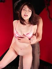 Tomoka Sakurai Asian is fucked with fingers till has huge squirt