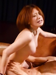 Ruri Haruka Asian has mouth fucked and fish taco fingered by guy