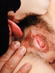 Maki Hojo Asian has labia spread and sex toys stuck inside cunt