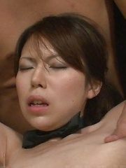 Kotone Aisaki is the center of a horny male orgy