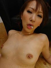 Toy loving Anna Mizukawa stuffed full of erotic sex toys