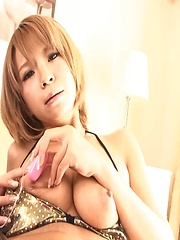 Sumire Matsu Asian pleasures clit and juicy jugs with vibrator