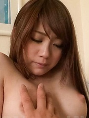 Mayuka Akimoto Asian has titties caressed and plays with penis