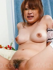 Madoka Ayukawa Asian has mouth and asshole fucked by strong dick