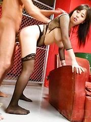 Azusa Nagasawa Asian with huge boobs sucks tool and rides it