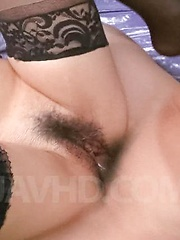 Asuka Asian with generous chest sucks tool and gets vibrator
