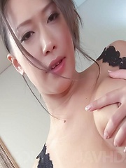 Yayoi Yanagida Asian plays with hot cans and enjoys vibrators