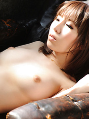 Kurara Horie Asian shows big boobs in satin and hot ass in string