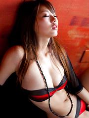 Sayuki Matsumoto Asian has big boobs in small bra and hot behind