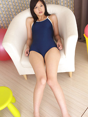 Rina Toiro Asian in swimming suit is sexy and ready to have fun