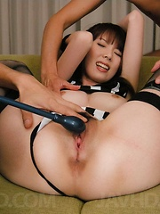Ramu Nagatsuki gets full pussy service wearing a sporty outfit