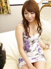 Maomi Nakazawa Asian has love box rubbed before riding shlong