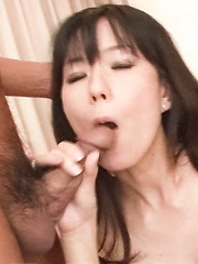 Manami Komukai Asian has hairy cunt and boobs under vibrator