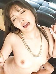 Haruka Oosawa Asian sucks two dicks while getting vibrators