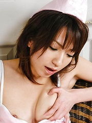 Airi Nakajima Asian horny gets cum on mouth after sucking penis