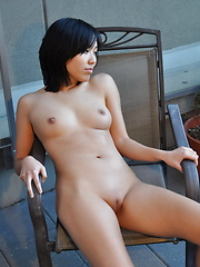 Young and sexy Annie strips and spreads to show her tight hairless slit